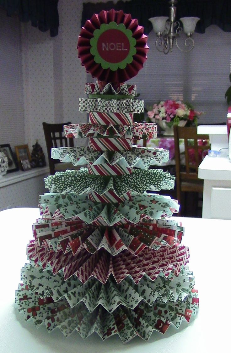 O' Christmas Tree! This Project Showcases The Stampin' Up Designer Series  Paper Fashioned Into A Christmas Tree This Christmas Tree Can Be The  Centerpiece