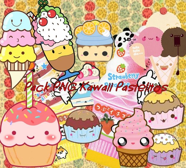 Pack PNG Kawaii Pastelitos by SoofiEditions1