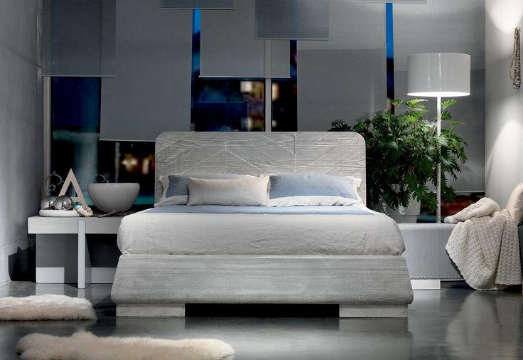 Marchetti mobilificio d'arte s.p.a. - Bed with fixed bed frame arredamento furniture  madeinitaly  design interior interiodesign wood
