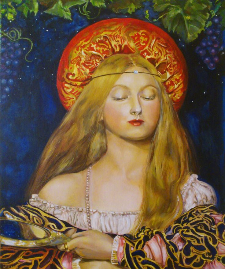 Frank Cadogan Cowper, Vanity Oil on stretched canvas For sale