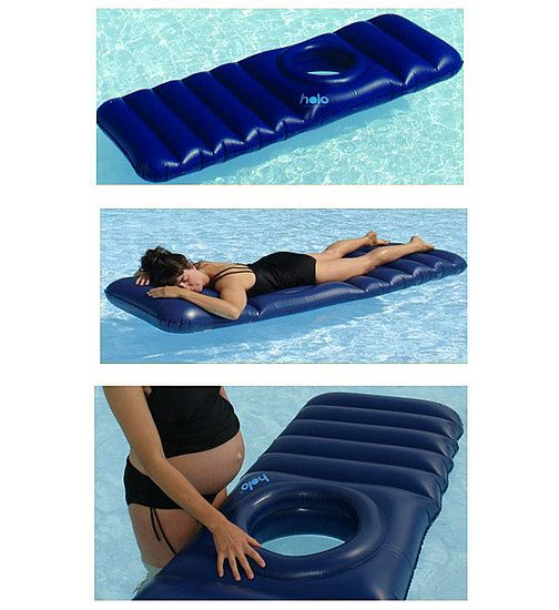 Expectant moms often have difficulty getting comfortable for a nap or a good night's sleep. With the Holo raft, mamas-to-be can rest on their stomachs – either in a pool or on top of a mattress – without harming their babies.
