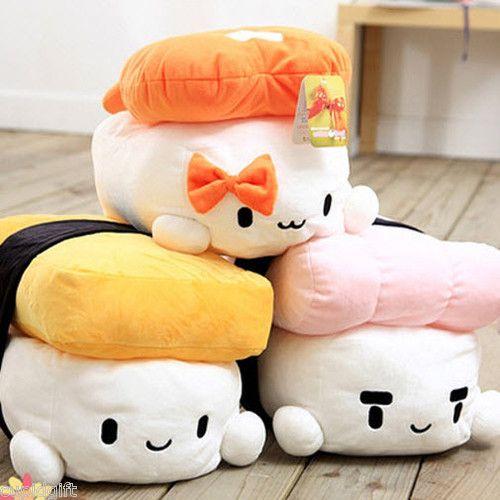 "12"" Sushi Japan Plush Pillow Cushion Doll Toy Gift Cute Kawaii Decoration Cotton | eBay"