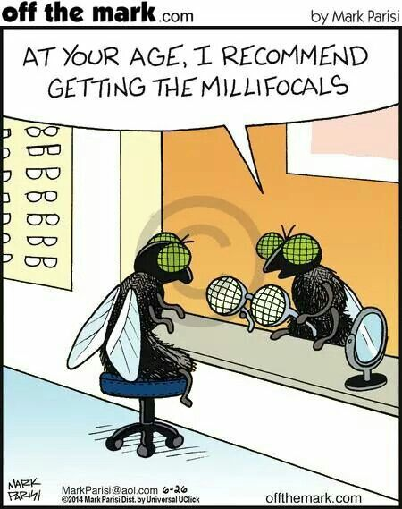 Milli-focals #EyeMechanix #FineTuneYourVision #TheComicalOptical Found on http://www.gocomics.com/comic/explore/1840299/3