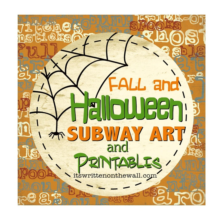 It's Written on the Wall: {Free Printables}Lots of Halloween and Fall Subway Art to choose fromFree Printables Lot, Free Printableslot, Printables Halloween, Free Printables Subway Art, Free Halloween, Halloween Fal, Free Fall Subway Art, Fall Printables Subway Art, Fall Subway Art Printables