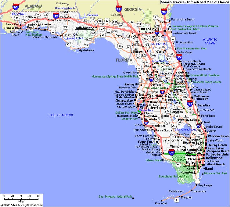 Maps Us Map Of Florida Blog With Collection Of Maps All Around - Beaches in the us map