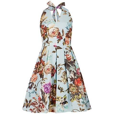 Buy Ted Baker Rara Summer Print Dress, Powder Blue Online at johnlewis.com