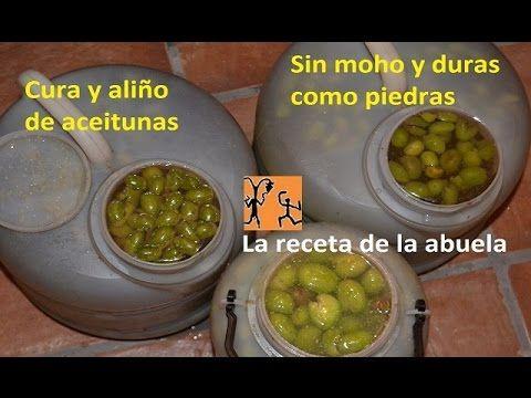 Cura y aliño casero de aceitunas olivas. Aceitunas sabrosas hechas en casa receta abuela. - YouTube