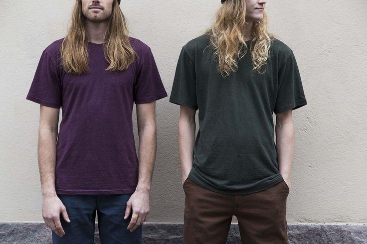 RCM CLOTHING FW14 / Basic Hemp T-Shirt / 55% hemp 45% organic cotton jersey / Sustainable Hemp Apparel http://www.rcm-clothing.com/