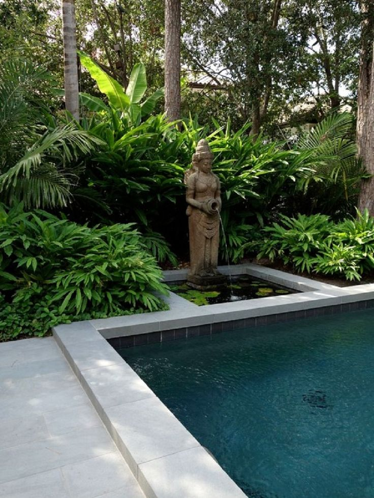 Decorative Unique Balinese Garden Statue with Waterfall Ideas