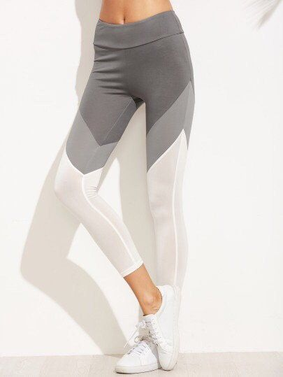 Color Block Wide Waistband Leggings – Shopping Serendipity