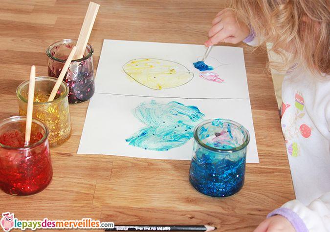 Peinture paillettes fait maison