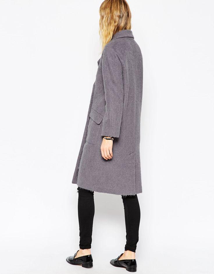 Image 2 ofASOS Coat In Cocoon Fit