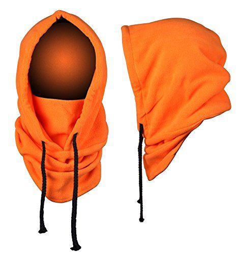 JIERKU Mens Running Balaclava Snowboarding Hats Types of Winter Hats MENS Orange * Check this awesome product by going to the link at the image.(This is an Amazon affiliate link and I receive a commission for the sales)