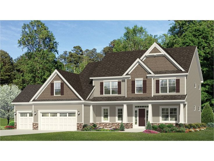 Home Plan HOMEPW77523 is a gorgeous 2665 sq ft, 2 story, 4 bedroom, 2 bathroom plan influenced by  Traditional  style architecture.