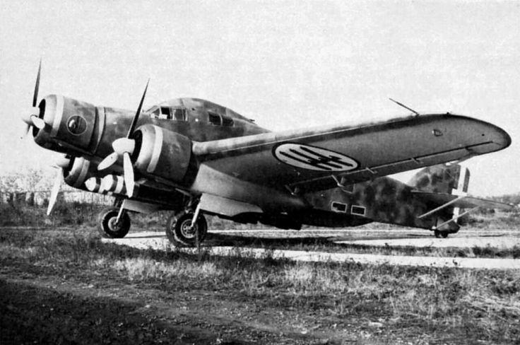 Italian torpedo Savoia-Marchetti SM 79 Sparviero on an Italian Airfield 1941.