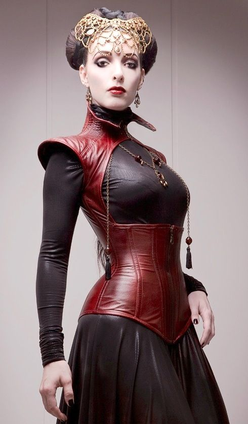 Leather Corset: German Dark Fashion Queen, courtesy of Pierre Leszczyk, Empire Art