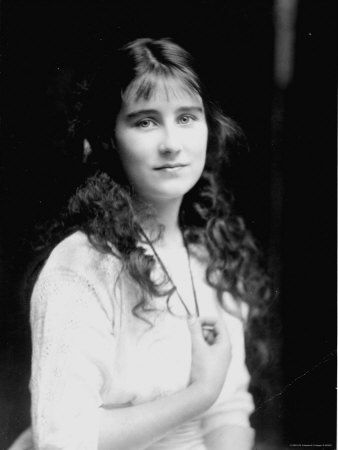 Lady Elizabeth Bowes-Lyon (the Queen Mother), 1914, age 13-14.    Lady Elizabeth Bowes-Lyon (later Queen Elizabeth The Queen Mother).
