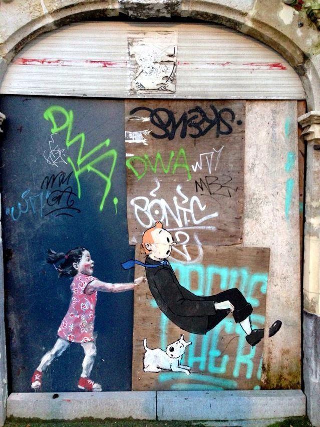 Brussels ~~~> Tintin