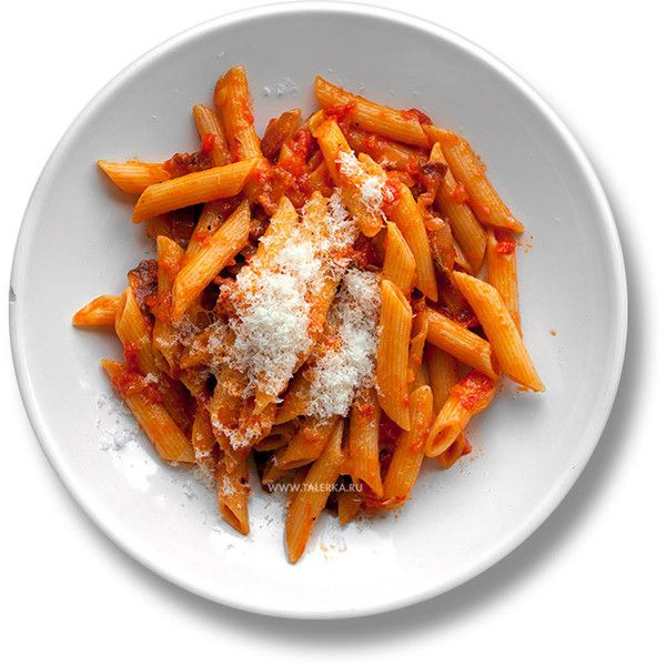 Пенне алла аматричана (Penne all'Amatriciana) Италия ❤ liked on Polyvore featuring food, fillers and food and drink