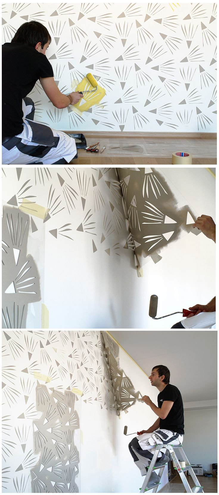 24 best wall design images on pinterest wall design wall looking forward to start my next stenciling project wall stencil decor amipublicfo Image collections
