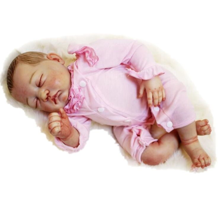 151.23$  Buy now - http://ali9z0.worldwells.pw/go.php?t=32720466089 - Newborn Doll Silicone Reborn Dolls 50 cm/20 Inch, Real Looking Baby Doll Toys for Children Lifelike Baby Reborn Doll Juguetes