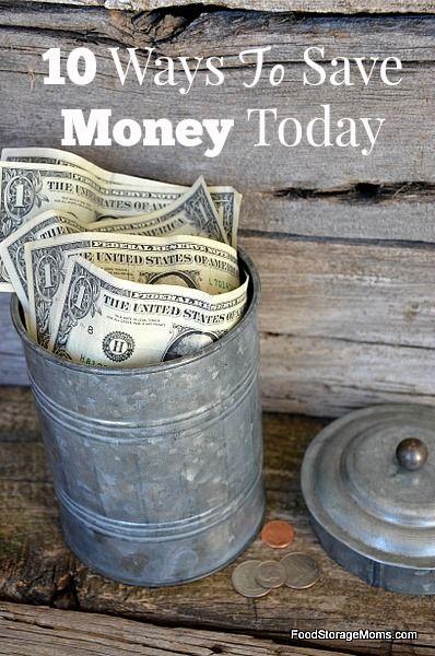 10 Best Ways To Save Money Today-How To Do It | via www.foodstoragemoms.com