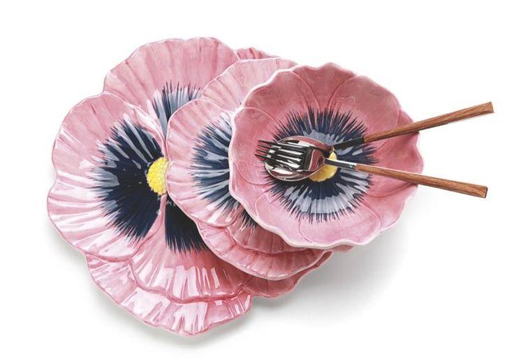Platos con forma de flor