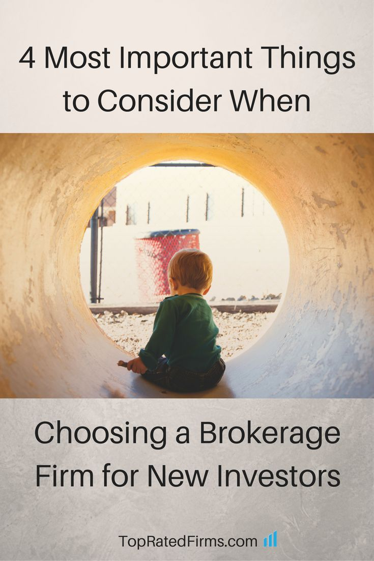 4 most important things to consider when choosing a brokerage firm for new investors http://topratedfirms.com/blog/four-things-to-consider-new-investors.aspx