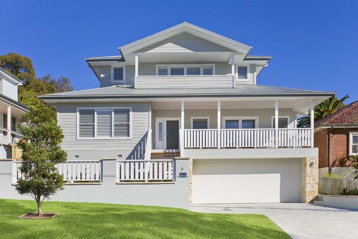 A beautiful hampton style home completed in sydney north for Beach house plans nsw