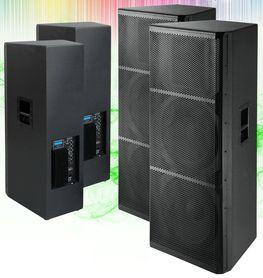 INPWT215AU_X2 Coppia cassa attiva 4000 Watt USB - 2 Woofer - Casse acustiche amplificate attive diffusori karaoke impianto audio altoparlanti