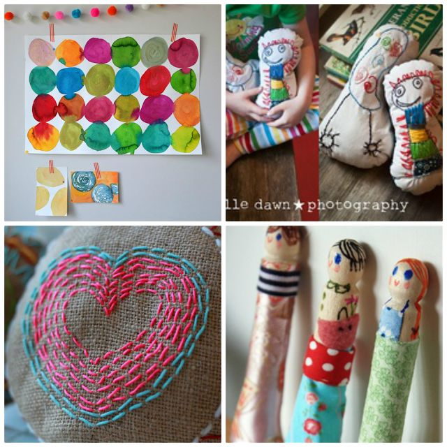A collection of school holiday craft ideas for kids... Simple, fun and a little bit gorgeous!