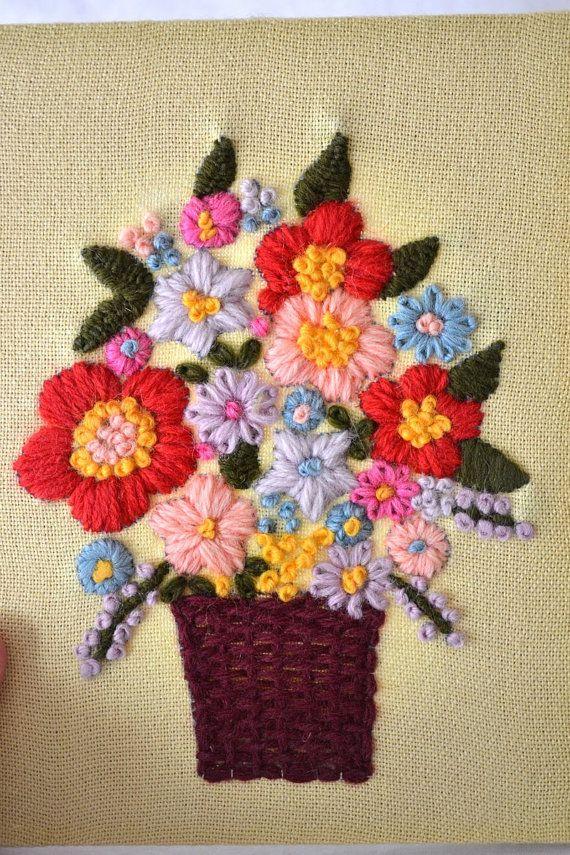 Cheerful Flower Boquet  Needlepoint