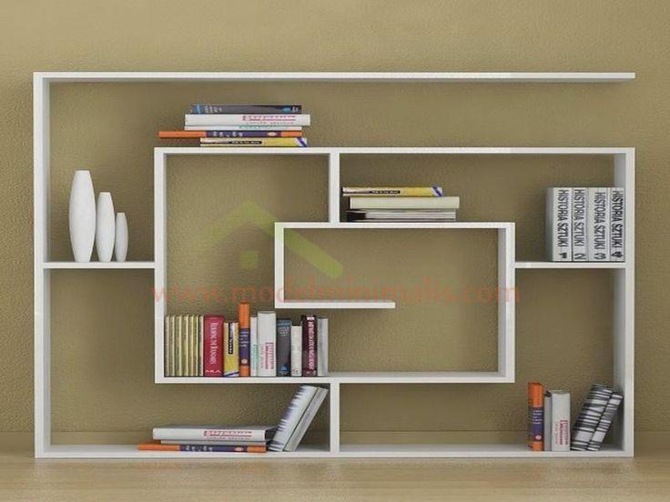 Gambar Rak Buku Minimalis Modern // Modernes #Regal im #Spiralformat