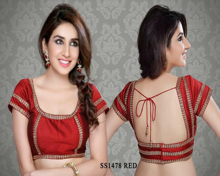 Red Chanderi Fabric Saree Blouse http://rajasthanispecial.com/index.php/red-chanderi-fabric-saree-blouse.html