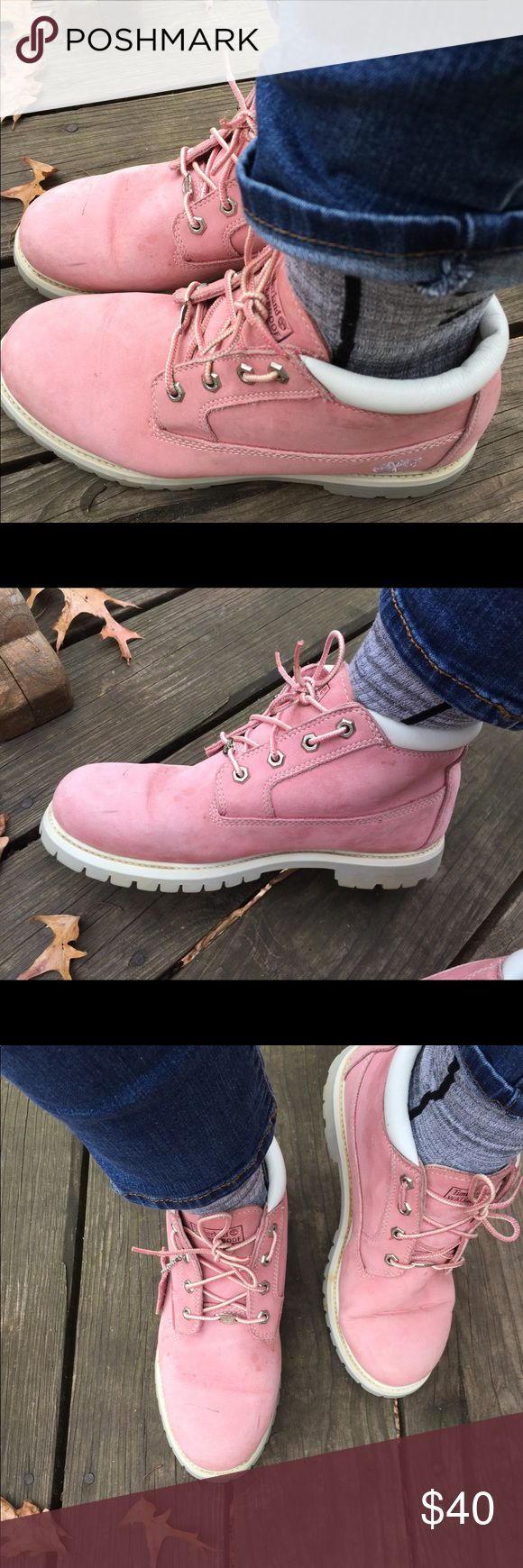 Women's pink Timberland boots size 11 waterproof So cute size 11 waterproof classic Timberland Shoes