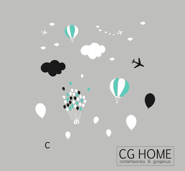 monochromatyczny CHMURKOWY świat - CGHOME - Naklejki na ścianę
