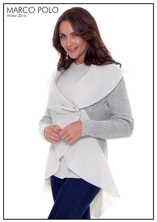 Elegant in design, the Dove Boiled Wool Contrast Knit Jacket ensures relaxed outfitting. Cosy and warm, the long sleeve style features knit back and sleeves with contrast boiled wool detailing for a soft, feminine feel. Please call 03 9902 5100 to locate your nearest stockist or shop online today a http://www.marcopolo.net.au/new/contrast-knit-jacket-dove-mw53084.html (Style Number: YTMW53084)