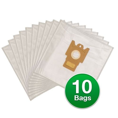 Replacement Type FJM Allergen Poly Wrapper Vacuum Bags For Miele Aluminum Champagne (Beige) - 2 Pack