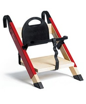 There will always be spaces in your home that are designed by or for kids, thanks to the HandySitt high chair from Denmark, your dining room needn't be one of them.