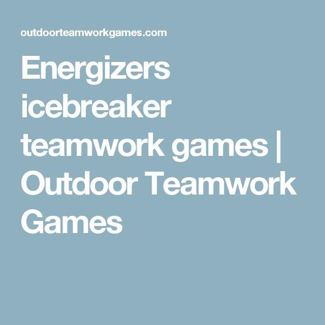 Energizers Icebreaker Teamwork Outdoor Friendship Ice Breakers