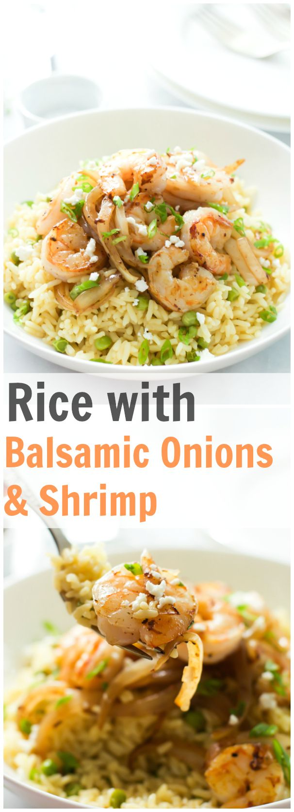 Save your time cooking easy making this quick and delicious Rice with Balsamic Onions and Shrimp. primaverakitchen.com