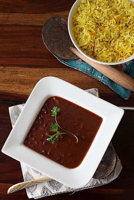 Kashmiri Rajma With Saffron Rice by Anushruti RK, via Flickr