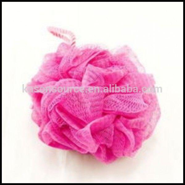 China mesh pouf kids bath sponge loofah sponge clean scrub puff supplier