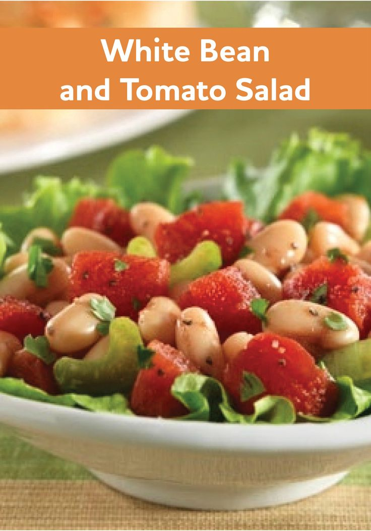 ... White Bean and Tomato Salad recipe is ready for the dinner table