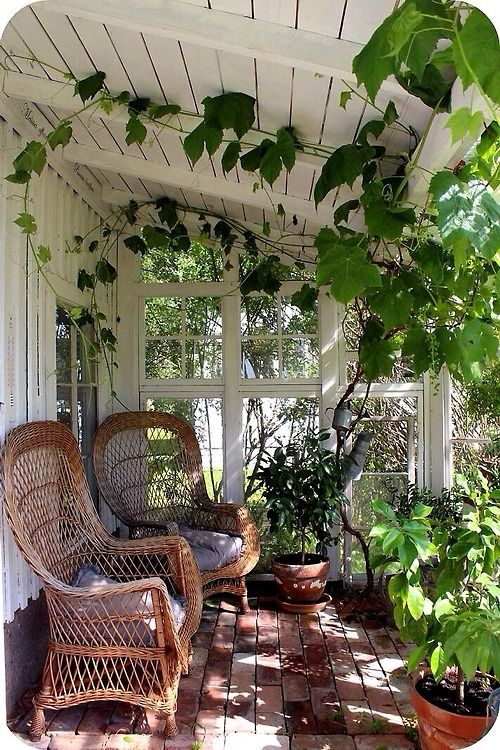 A cooler place to relax out of the summer heat.