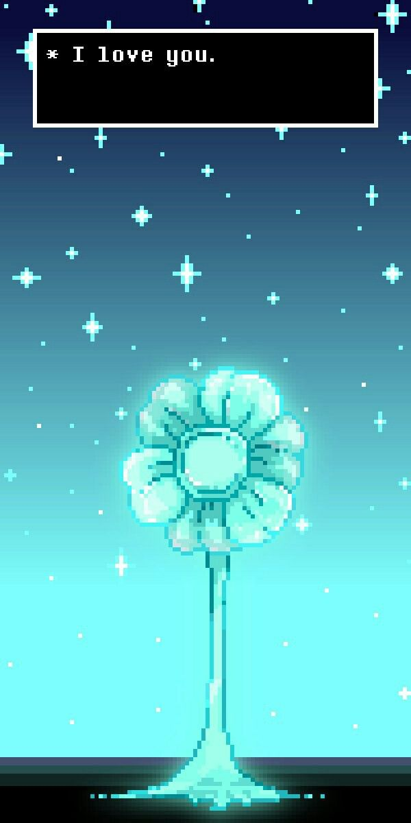 Undertale>>> awwwwh an eco flower I think they are called