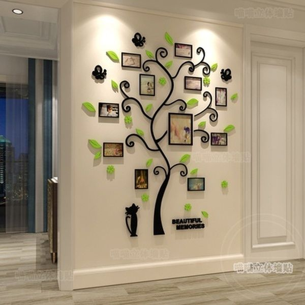 3d Acrylic Crystal Wall Stickers Living, Wall Stickers For Living Room