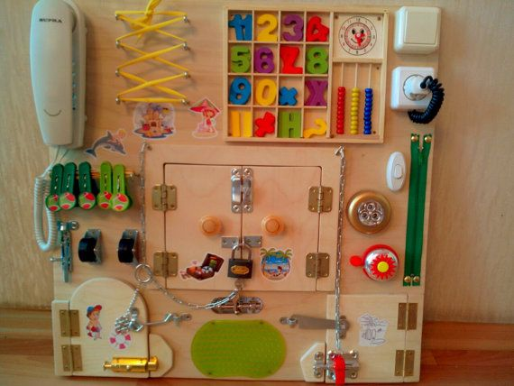 Toy for children from 6months and up to 5-7 years. Busy Boards develops * coordination * imagination * perseverance * skills of…