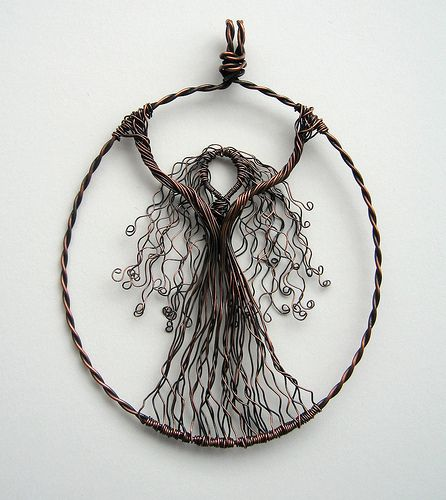 """What a gorgeous pendant, a creative take on the """"Tree of Life"""" pendant that's been so popular lately..."""