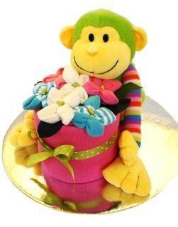 Monkey magic nappy cake - Adelaide baby gift